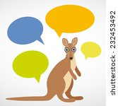 template funny kangaroo with... | Shutterstock . vector #232453492