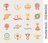 first place badges and winner... | Shutterstock .eps vector #232464262