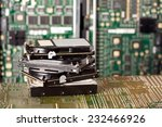 pile of hard drives and... | Shutterstock . vector #232466926