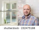 balding middle aged man in a... | Shutterstock . vector #232475188