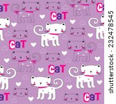 childish pattern with cat... | Shutterstock .eps vector #232478545