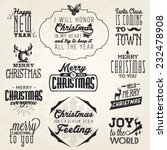 christmas greeting card badges... | Shutterstock .eps vector #232478908