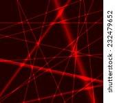 red laser random beams on dark... | Shutterstock .eps vector #232479652