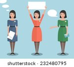standing office manager woman... | Shutterstock .eps vector #232480795