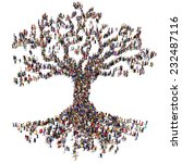 large tree formed out of people ... | Shutterstock . vector #232487116