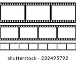 Set Of Film Frame  Vector...
