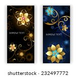 two vertical banner with shiny...