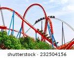 roller coaster in funny... | Shutterstock . vector #232504156