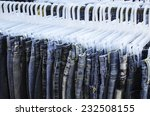 row of jeans and trousers on... | Shutterstock . vector #232508155