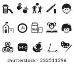 preschool icons set | Shutterstock .eps vector #232511296