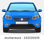 vector blue car   front view | Shutterstock .eps vector #232520335