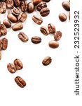 coffee beans on white table ... | Shutterstock . vector #232523932
