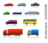 set of different cars with...   Shutterstock .eps vector #232524508