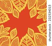 leaves pattern vector... | Shutterstock .eps vector #232534015