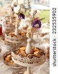 wedding cookies decorated with...   Shutterstock . vector #232535902