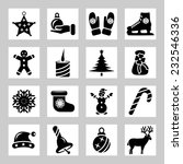 christmas and winter icons set | Shutterstock .eps vector #232546336