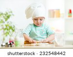 Little Baker Kid Girl In Chef...