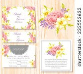 wedding invitation cards with... | Shutterstock .eps vector #232553632