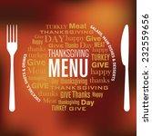 thanksgiving restaurant menu... | Shutterstock .eps vector #232559656