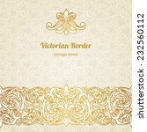 vector vintage border in... | Shutterstock .eps vector #232560112