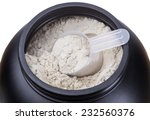 container of milk whey protein. ... | Shutterstock . vector #232560376