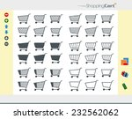 36 shopping cart icons divided...