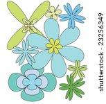 vectorial lovely flowers | Shutterstock .eps vector #23256349