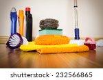 set of cleaning equipment on a... | Shutterstock . vector #232566865