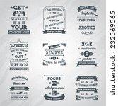 success motivational and... | Shutterstock .eps vector #232569565