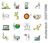 doodle business organization... | Shutterstock .eps vector #232572088