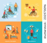 disabled flat icons set with... | Shutterstock .eps vector #232573096
