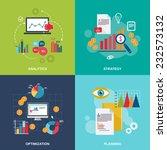 business data flat icons set... | Shutterstock .eps vector #232573132