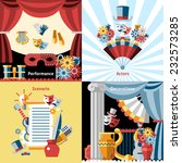 theatre flat icon set with... | Shutterstock .eps vector #232573285