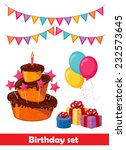 set for birthday | Shutterstock .eps vector #232573645