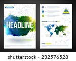 set of  poster templates with... | Shutterstock .eps vector #232576528