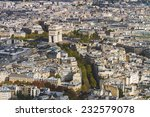 arc de triomphe seen from tour... | Shutterstock . vector #232579078