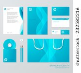 stationery template design with ... | Shutterstock .eps vector #232582216