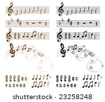 collection of musical design... | Shutterstock .eps vector #23258248