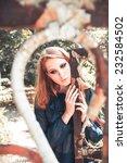 retro fashion concept. portrait ... | Shutterstock . vector #232584502