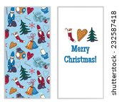 christmas card set | Shutterstock .eps vector #232587418