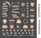 huge set of vintage vector...   Shutterstock .eps vector #232599076