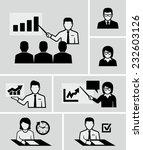 teacher woman lecturing beside... | Shutterstock .eps vector #232603126