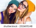 two beautiful best friend girls ...   Shutterstock . vector #232605148