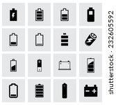 vector batery icon set on grey... | Shutterstock .eps vector #232605592