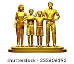 golden family on a pedestal | Shutterstock . vector #232606192