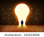 business man looking at bright...   Shutterstock . vector #232614046