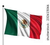 mexico flag with fabric... | Shutterstock . vector #232615066