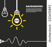 idea lamp with electric plug... | Shutterstock .eps vector #232635892