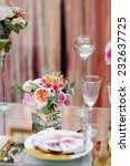 table set for an event party or ... | Shutterstock . vector #232637725