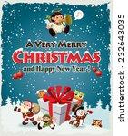 vintage christmas poster design ...   Shutterstock .eps vector #232643035